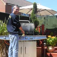 Not only is Glenn Colson a knowledgeable landscaper gardener, he is also handy on the BBQ!